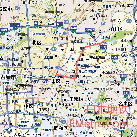 名古屋导轨巴士志段味线大致走向