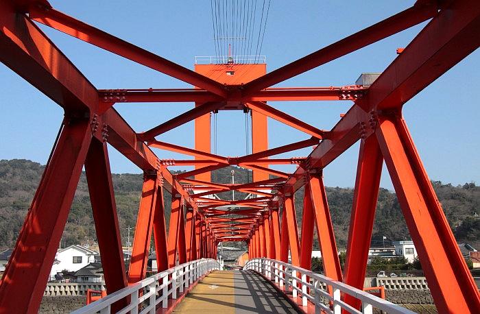 行走在本渡濑户人行桥之上