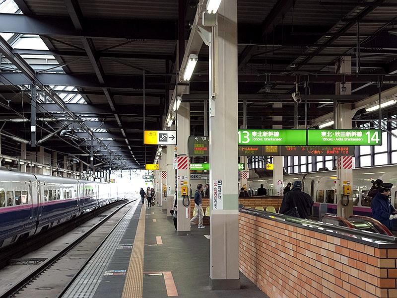 秋田迷你新干线盛冈站