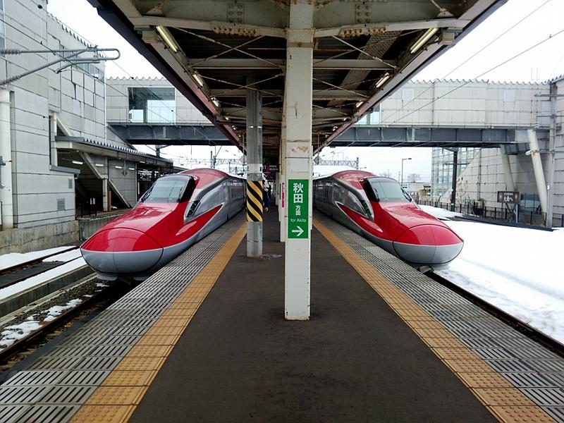 秋田迷你新干线大曲站