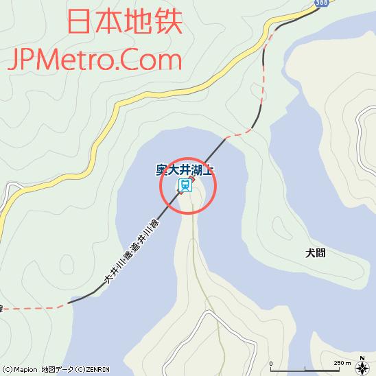 奥大井湖上站周边地图