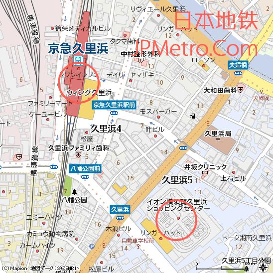 京急久里浜站与久里浜中央驾校周边地图
