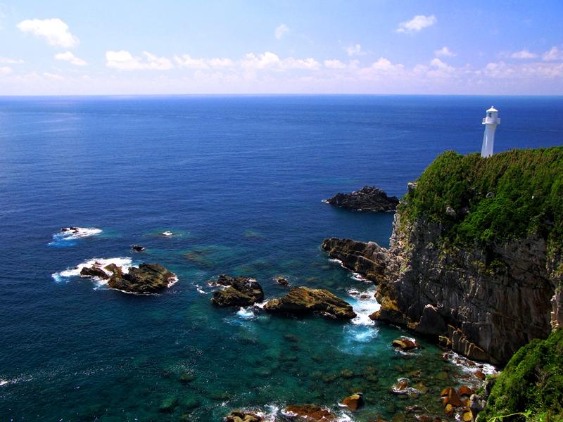 四国岛最南端的足折岬