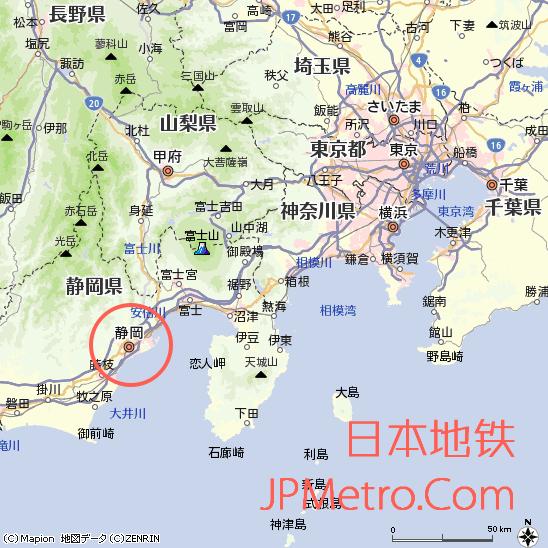 静冈市在日本大致区位