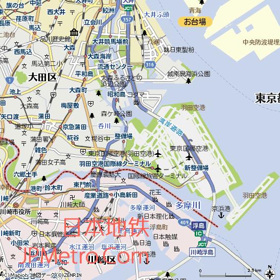 羽田机场周边地图