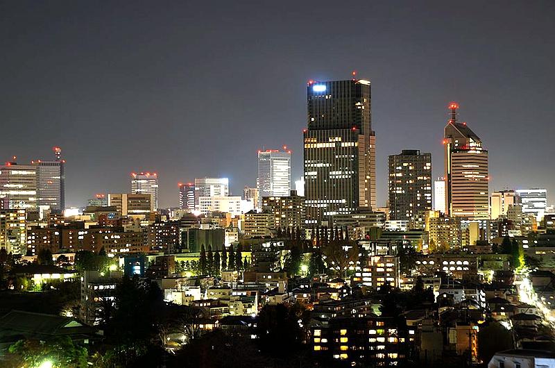 仙台市中心夜景