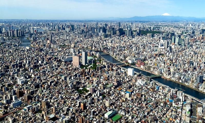 从天空树俯看东京
