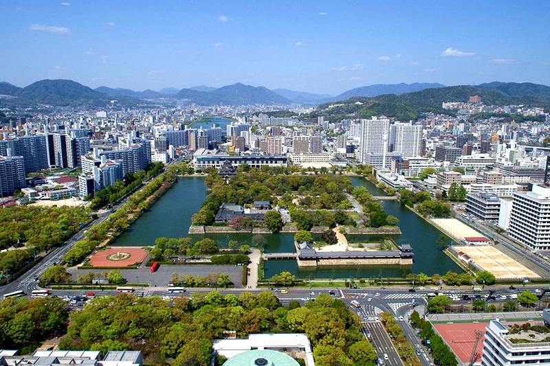广岛城以及周边区域