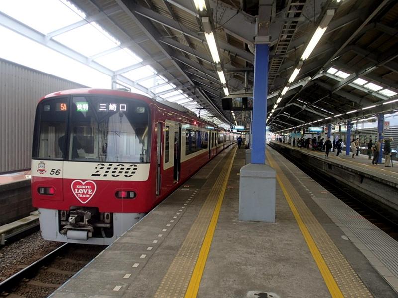 京急久里浜站站台