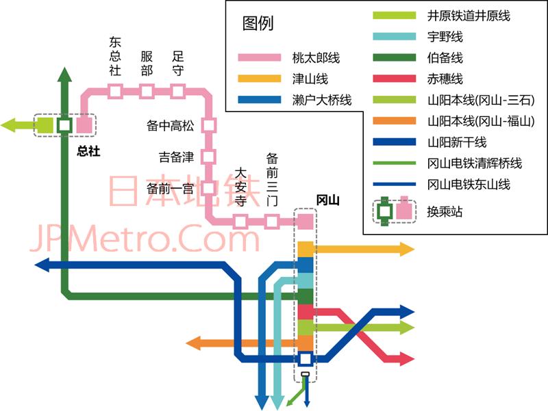 桃太郎线线路图