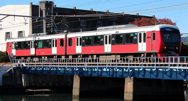 静冈铁道红色配色A3000型列车