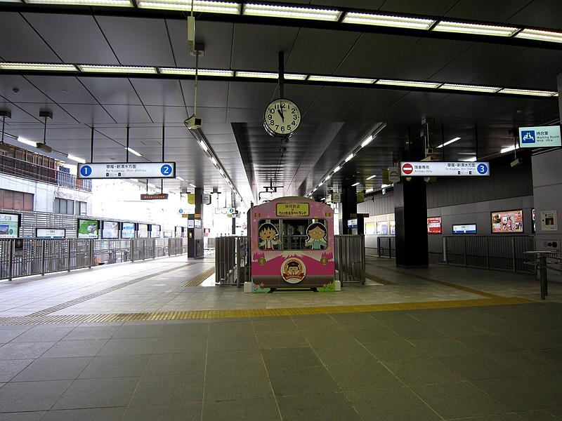 新静冈站站台