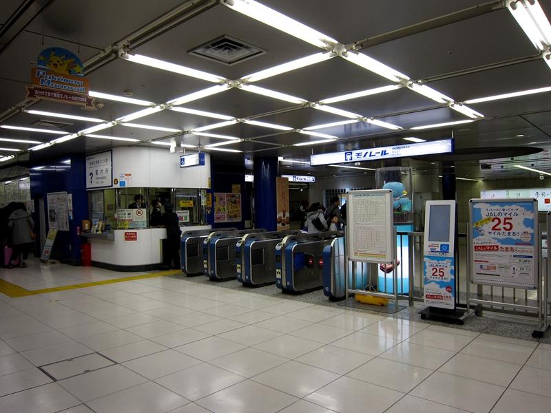 东京单轨T2站的检票口