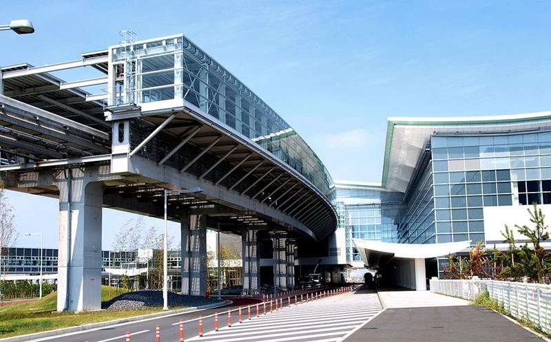 从外面看东京单轨国际车站