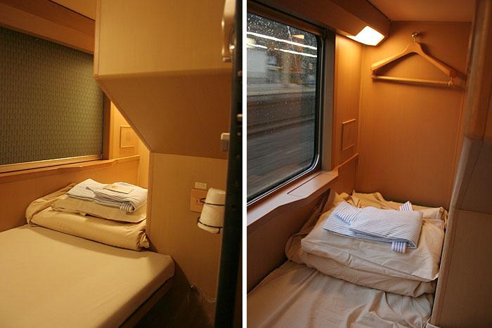 日出濑户列车位于下层的单人经济间