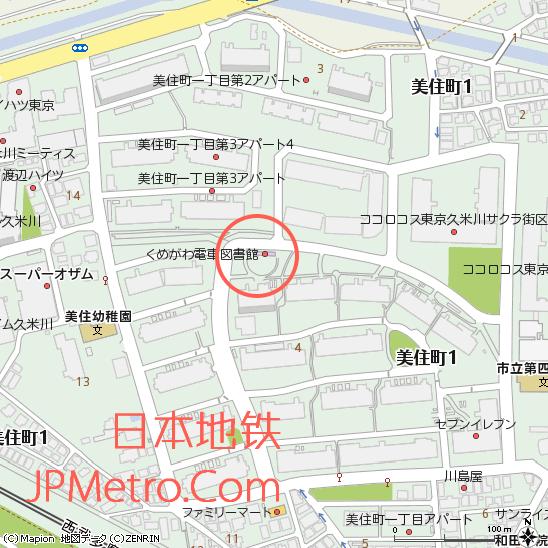 电车图书馆周边地图