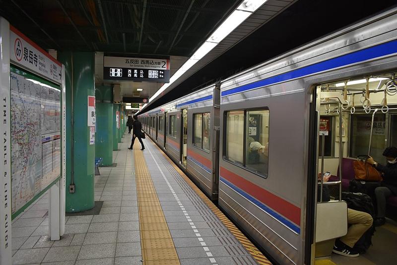 泉岳寺2号站台