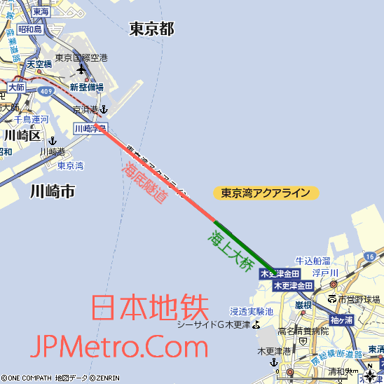 东京湾跨海高速周边