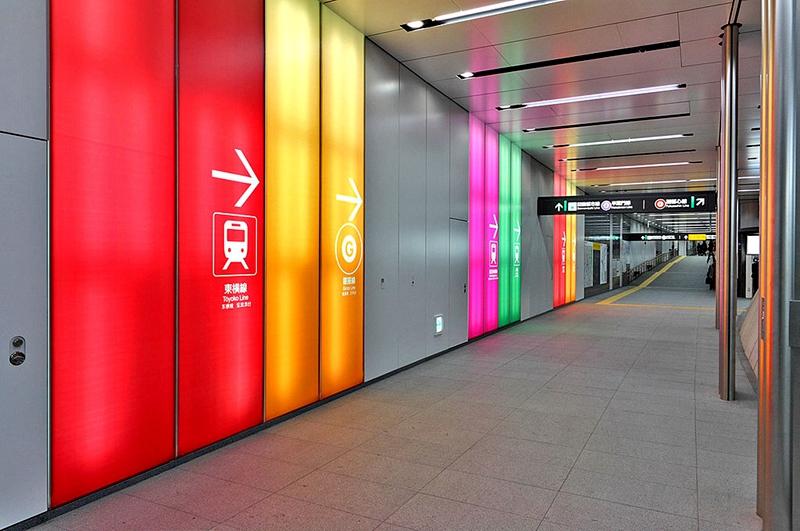 涉谷站内的换乘通道