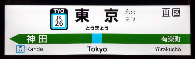 JR东日本站名标的标准样式