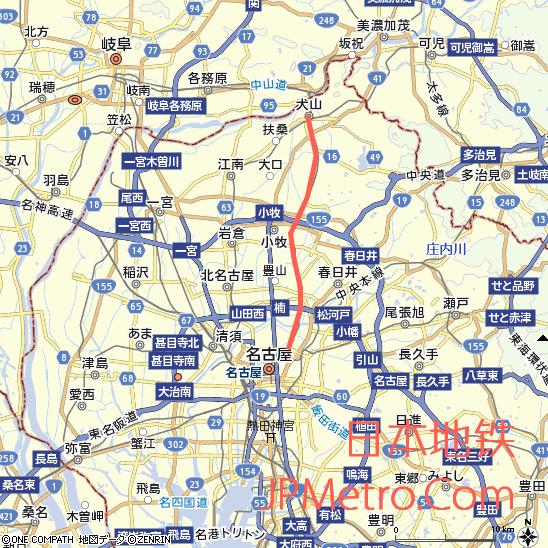 小牧线&上饭田线大致走向