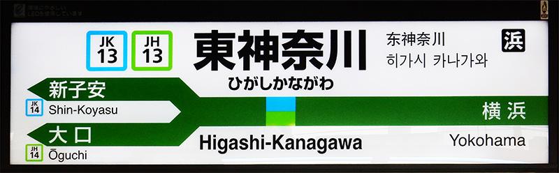 JR东日本Y形站名标色带