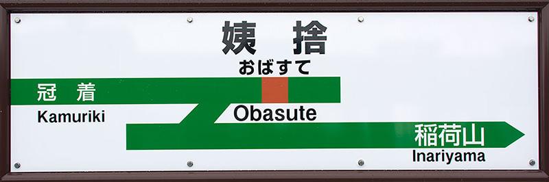 JR东日本特殊N形站名标色带