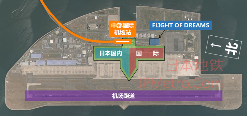 中部国际机场卫星图