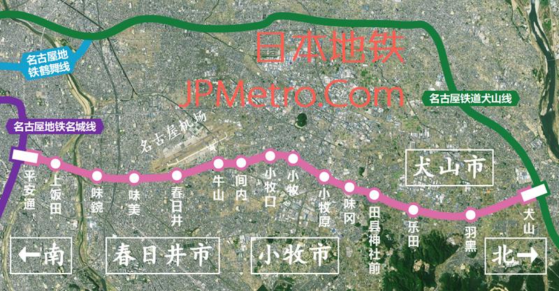 小牧线&上饭田线线路图