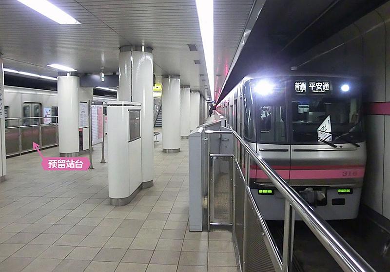 上饭田站站台