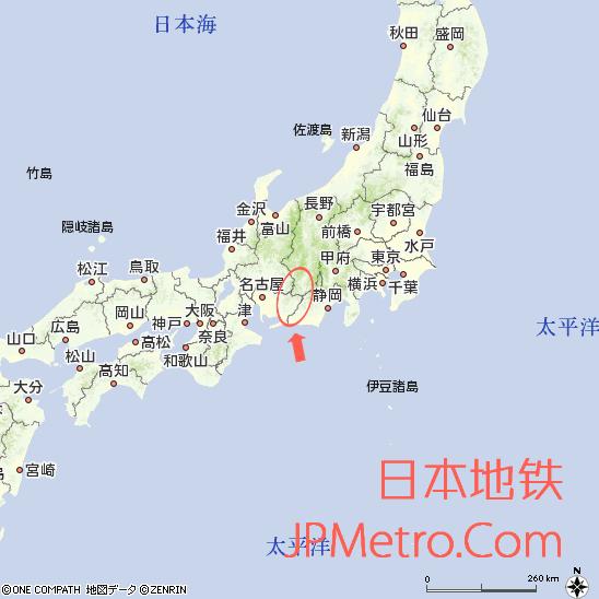 饭田线在日本大致区位