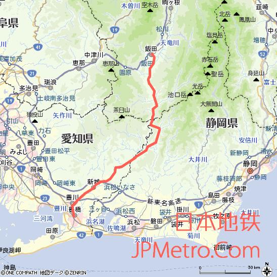 饭田线秘境号列车大致走向