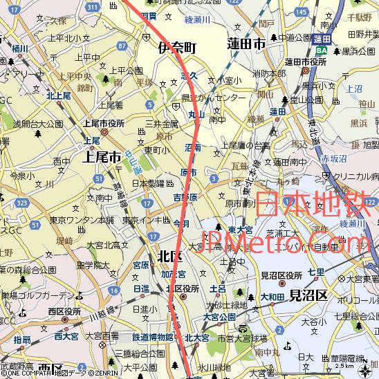 埼玉新交通伊奈线大致走向
