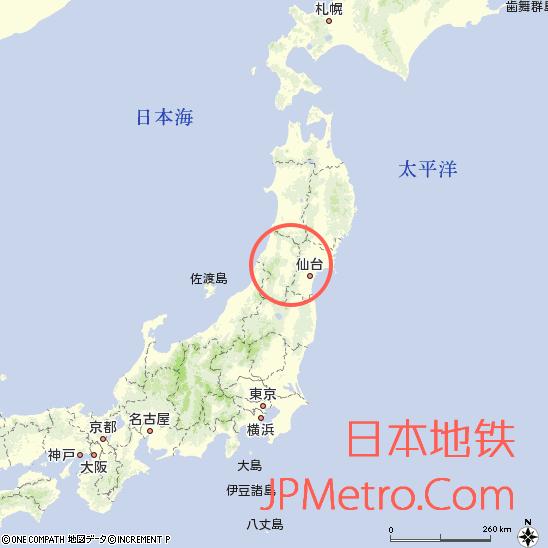 足汤列车在日本大致区位