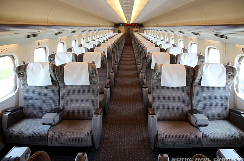 JR东海道N700系列车内部