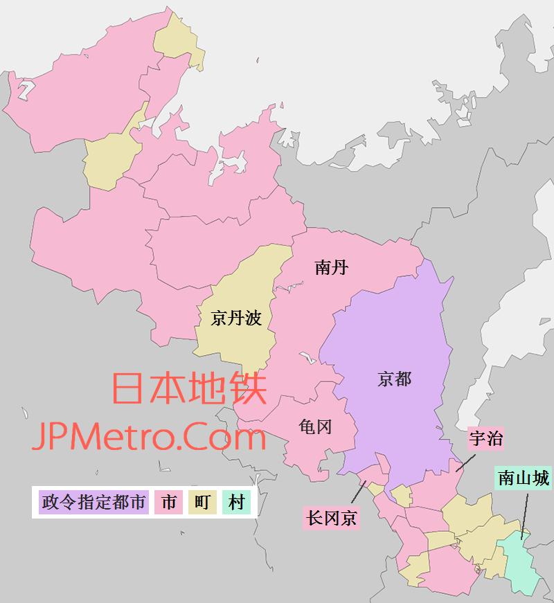 京都府行政区划简图