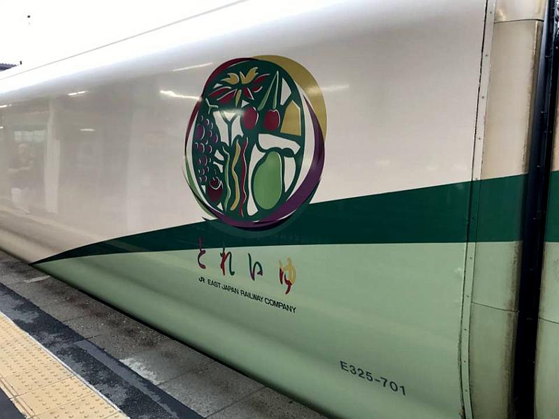 足汤列车车身上印制的标记