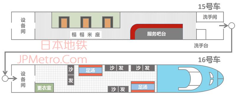 足汤列车15与16号车厢平面图