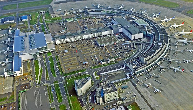 从西南侧俯瞰新千岁机场