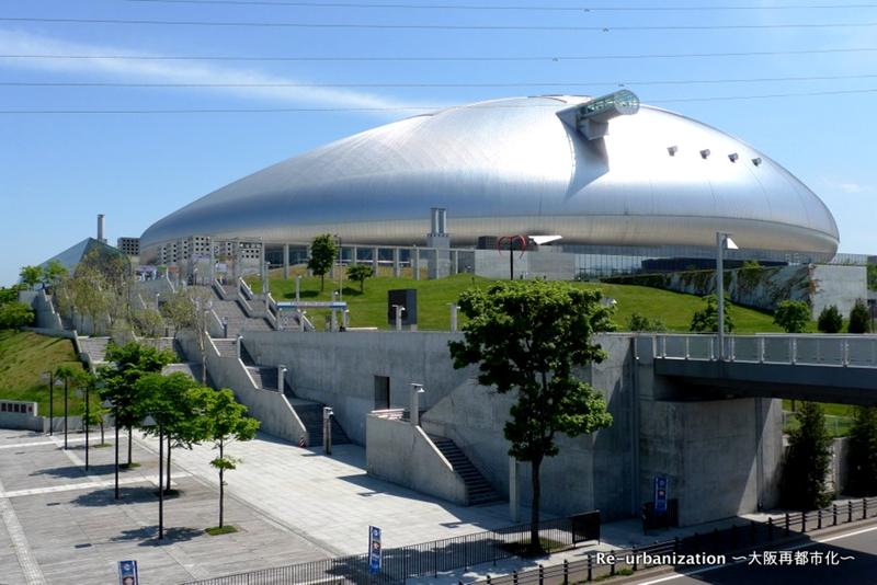 从西北侧看札幌穹顶体育场