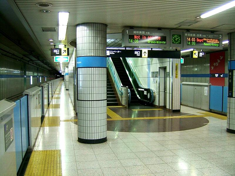 埼玉高速铁道所属的鸠谷站的站台层