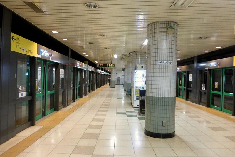 东京地铁南北线本驹込站的站台层