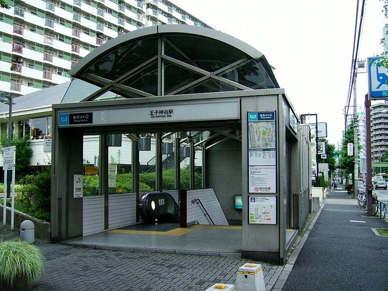 王子神谷站的1号地面出入口