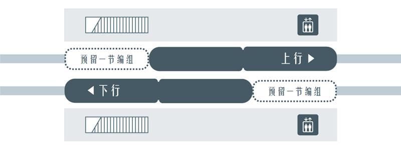 冲绳单轨侧式结构车站结构简图