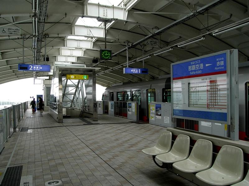 冲绳单轨那霸机场站站台层