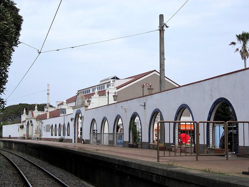 犬吠站站台全景