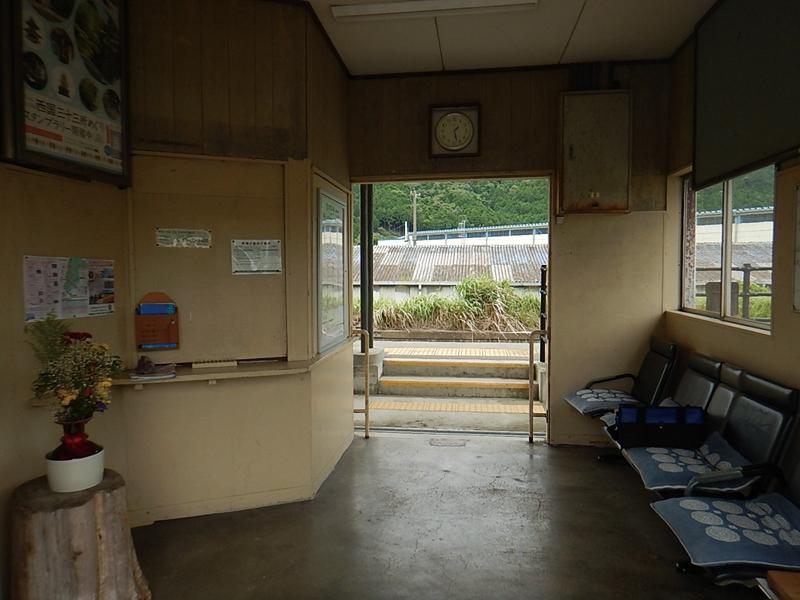 久下村站原老站房内部