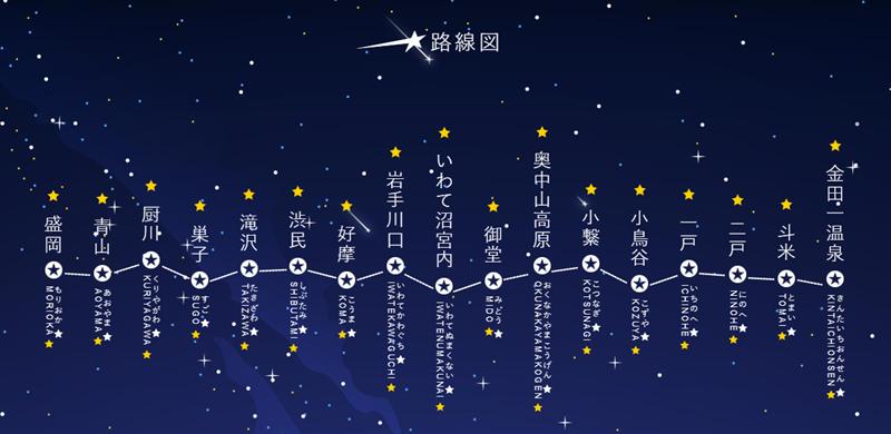 银河铁道官网blingbling的线路图