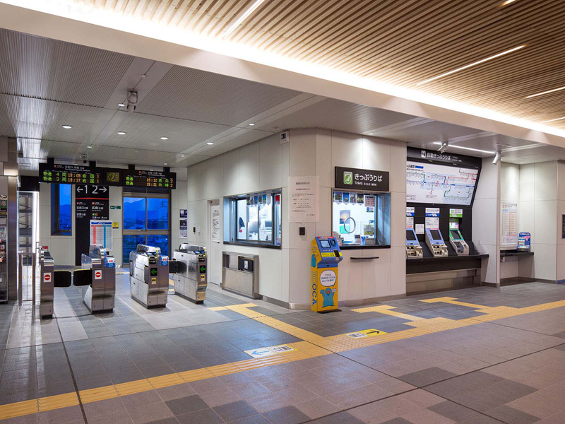 廿日市车站的功能区全景
