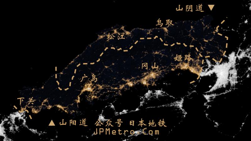 西日本夜晚灯光图